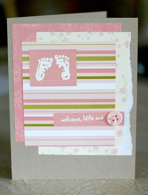 'Think Pink' Baby Card